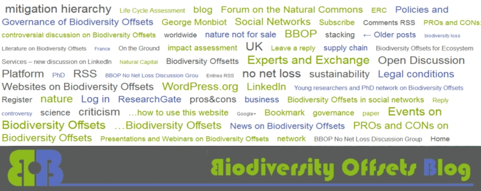 Biodiversity Offsets Blog Logo_hellgruen_tag cloud_1680