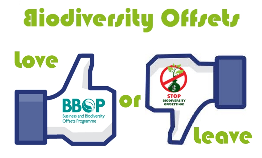Controversy on Biodiversity Offsets (Image created for Biodiversity Offsets Blog by Marianne Darbi)