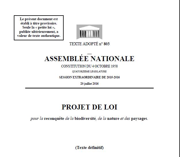 biodiversity law France